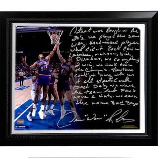 Dennis Rodman Facsimile 'The Bad Boys' Story Stretched Framed 22x26 Canvas