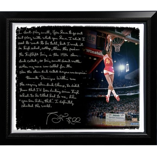 Spud Webb Facsimile ' Slam Dunk Contest' Story Stretched Framed 22x26 Story Canvas