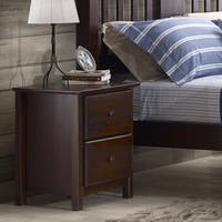 Grain Wood Furniture Shaker 2-drawer Cherry Solid Wood Nightstand