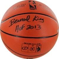 Bernard King Signed I/O Basketball w/ HOF insc