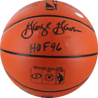 "George Gervin Signed I/O NBA Orange Basketball w/ HOF 96"" Insc."