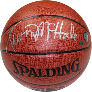 Kevin McHale Signed I/O Brown Basketball
