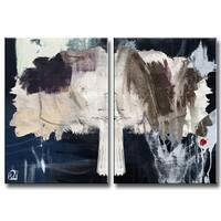 Ready2HangArt 'Inkd XXI' 2-piece Canvas Art Set - White