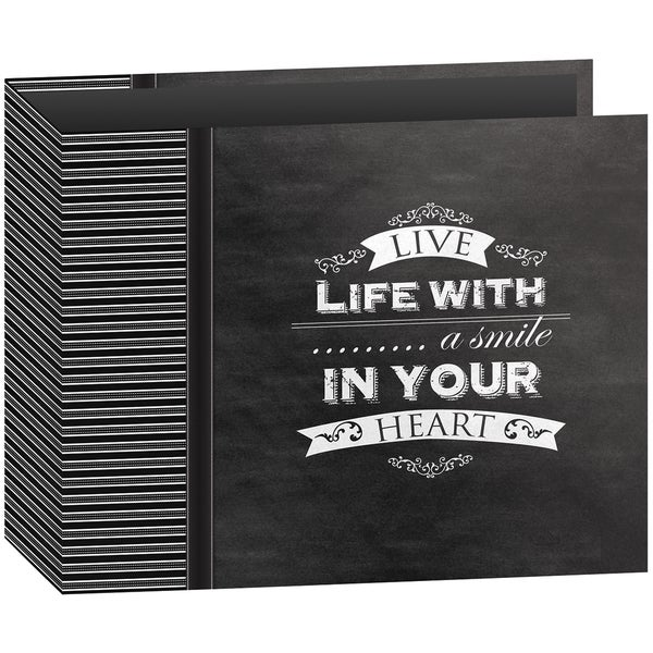 "Shop Pioneer 3-Ring Binder Chalkboard Album 12""X12""-Smile"