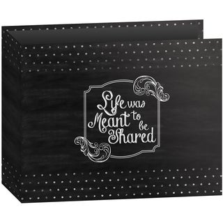 "Pioneer 3-Ring Binder Chalkboard Album 12""X12""-Shared"
