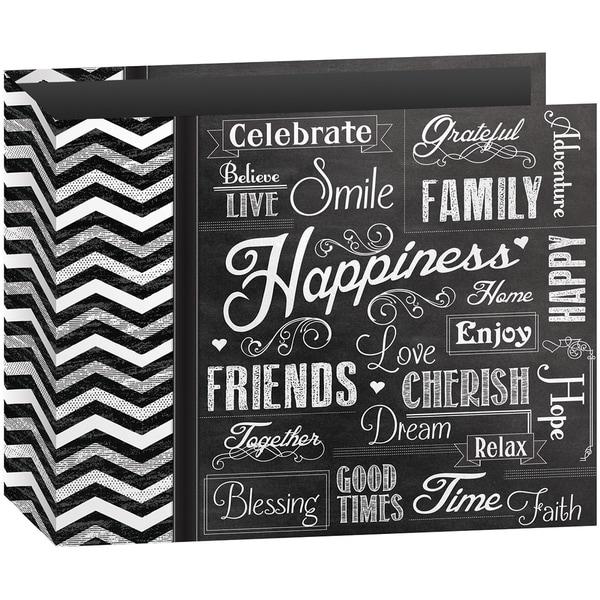 "Shop 3-Ring Binder Chalkboard Album 12""X12""-Happiness"