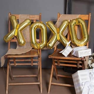 "34"" XOXO Balloon Kit, Gold