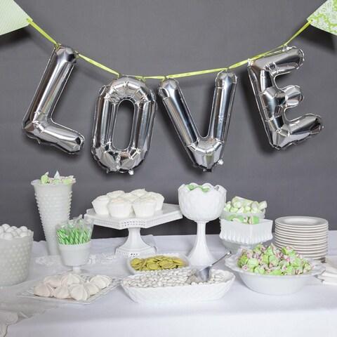 """34"""" Love Balloon Kit, Silver"""