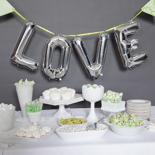 "34"" Love Balloon Kit, Silver"