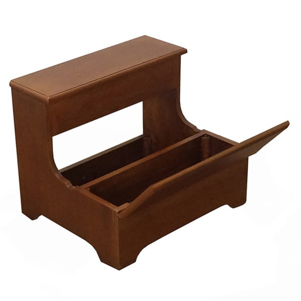 Bernards Queen Anne Oak Storage Step Stool