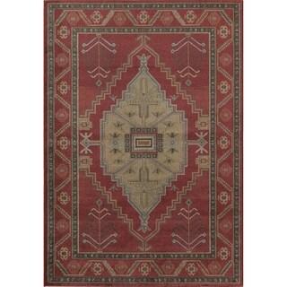 Treasures Red Wool Rug (5' x 8')
