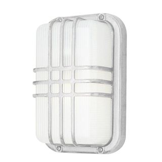 Cambridge 1-light White 6.5-inch Outdoor Flush Mount with Clear Ribbed Polycarbonate