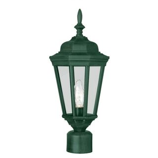 Cambridge Verde Green Finish Outdoor Post Head with Clear Shade