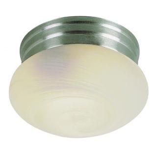 Cambridge Brushed Nickel Finish 1-light Flush Mount with Opal Shade