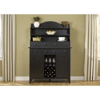 Hearthstone Traditional Rustic Black Server and Hutch Set