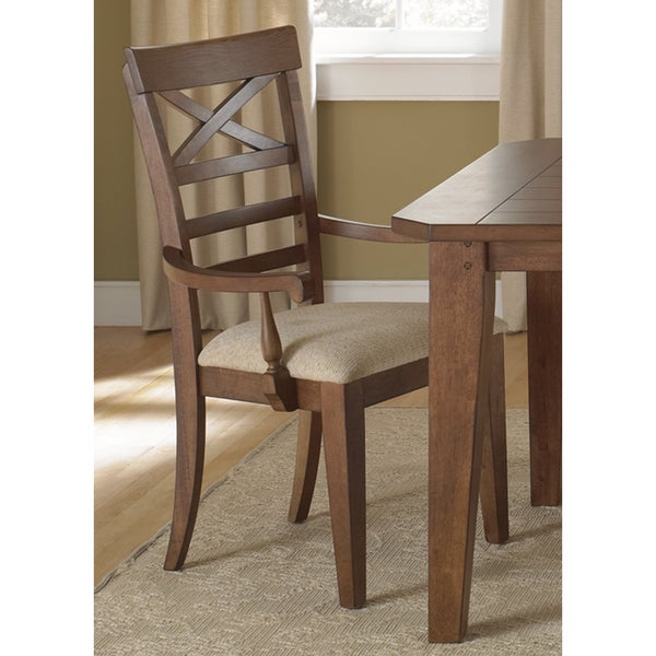 The Gray Barn North Brother Rustic Oak X-Back Arm Chair