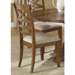 Hearthstone Traditional Rustic Oak X-Back Dining Chair