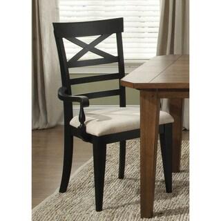 Hearthstone Traditional Rustic Black X-Back Arm Chair