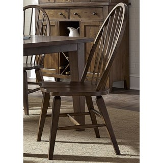 Hearthstone Traditional Rustic Oak Windsor Dining Chair