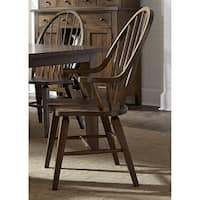 Hearthstone Traditional Rustic Oak Windsor Arm Chair