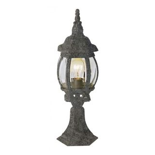 Cambridge Swedish Iron Finish 1-light Outdoor Post Head with Beveled Shade