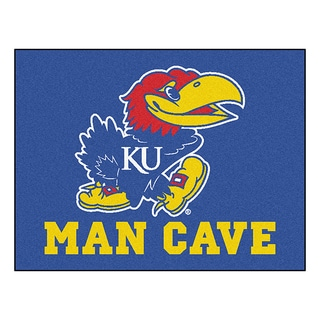 Fanmats University of Kansas Blue Nylon Man Cave Allstar Rug (2'8 x 3'8)