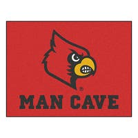 Fanmats University of Louisville Red Nylon Man Cave Allstar Rug (2'8 x 3'8)