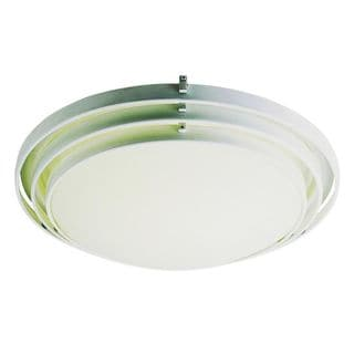 Cambridge White Finish 1-light Flush Mount with Frosted Shade