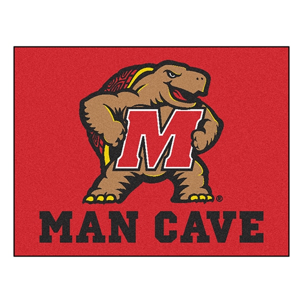 Fanmats University of Maryland Red Nylon Man Cave Allstar Rug (2'8 x 3'8)