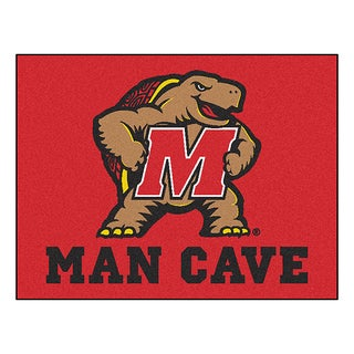 Fanmats University of Maryland Red Nylon Man Cave Allstar Rug (2'8 x 3'8)