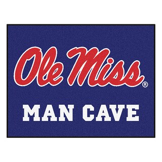 Fanmats University of Mississippi Ole Miss Blue Nylon Man Cave Allstar Rug (2'8 x 3'8)