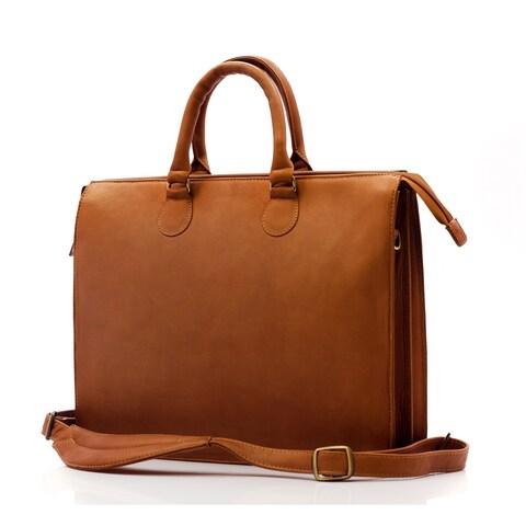 Muiska Monica Slim Vaquetta Leather Laptop Briefcase