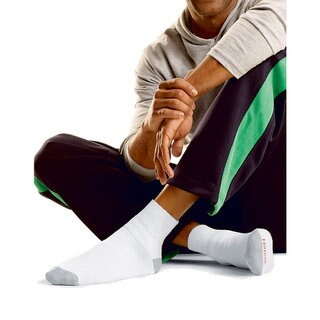 Hanes Men's Big & Tall Ankle Socks, 12-Pack
