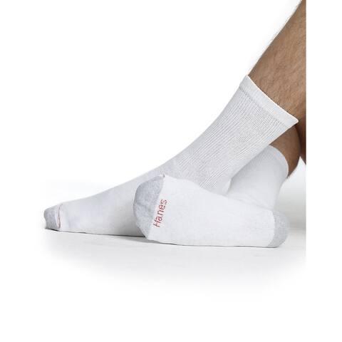 Hanes Men's Crew Socks, 12-Pack