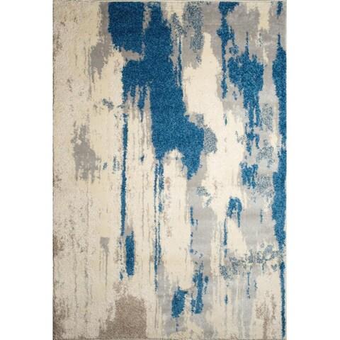 Ren Wil Alberto Abstract Blue Rug - 7'9 x 9'8