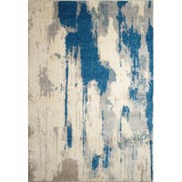 Ren Wil Alberto Abstract Blue Rug (7'9 x 9'8)