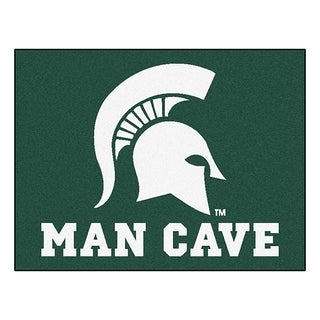 Fanmats Michigan State University Green Nylon Man Cave Allstar Rug (2'8 x 3'8)
