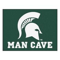 Fanmats Michigan State University Green Nylon Man Cave Allstar Rug (2'8 x 3'8)