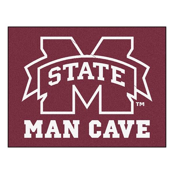 Fanmats Mississippi State University Red Nylon Man Cave Allstar Rug (2'8 x 3'8)