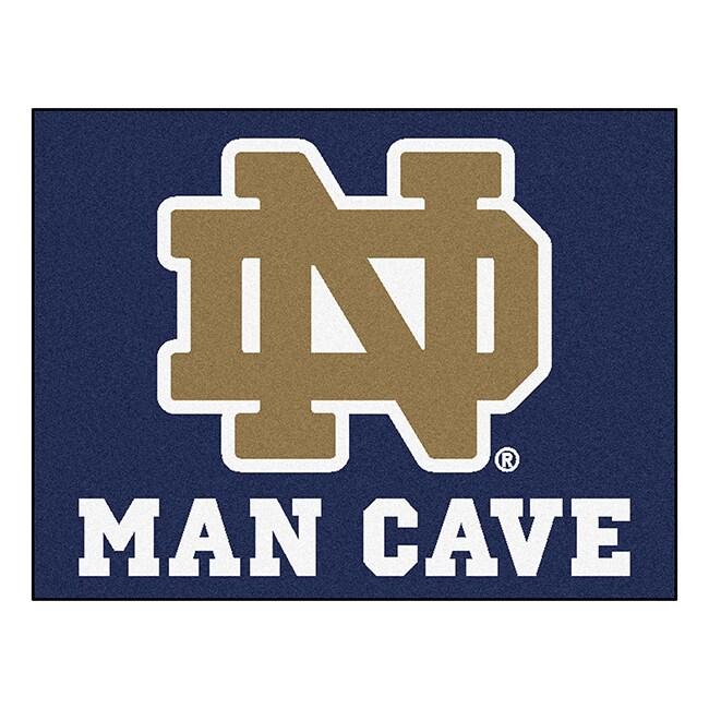 Fan Mats Notre Dame Blue Nylon Man Cave Allstar Rug (2'8 ...