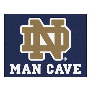 Fanmats Notre Dame Blue Nylon Man Cave Allstar Rug (2'8 x 3'8)
