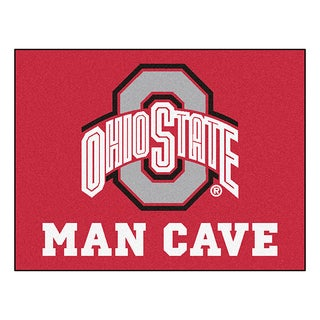 Fanmats Ohio State University Red Nylon Man Cave Allstar Rug (2'8 x 3'8)