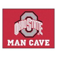 Fanmats Ohio State University Red Nylon Man Cave Allstar Rug (2'8 x 3'8)