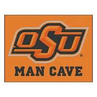Fanmats Oklahoma State University Black Nylon Man Cave Allstar Rug (2'8 x 3'8)
