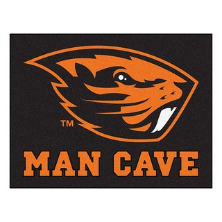 Fanmats Oregon State University Black Nylon Man Cave Allstar Rug (2'8 x 3'8)