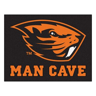 Fanmats Oregon State University Black Nylon Man Cave Allstar Rug (2'8 x 3'8)
