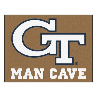 Fanmats Georgia Tech Brown Nylon Man Cave Allstar Rug (2'8 x 3'8)