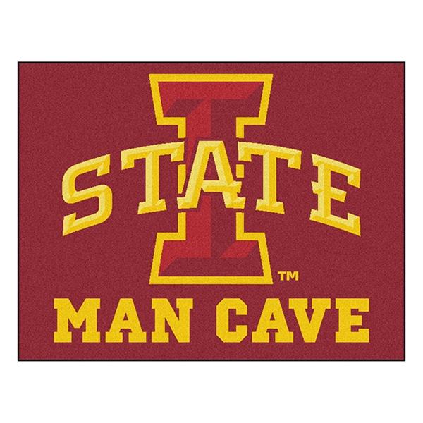 Fanmats Iowa State University Red Nylon Man Cave Allstar Rug (2'8 x 3'8)