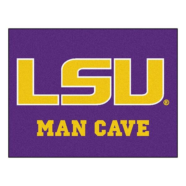 Fanmats Louisiana State University Purple Nylon Man Cave Allstar Rug (2'8 x 3'8)