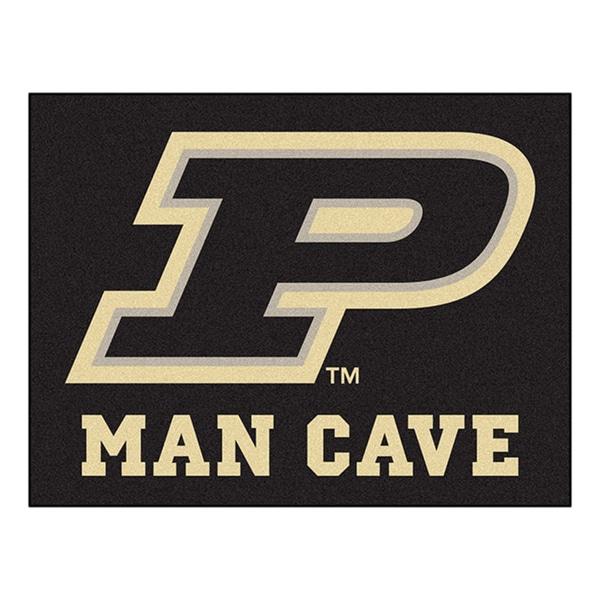 Fanmats Purdue University Black Nylon Man Cave Allstar Rug (2'8 x 3'8)